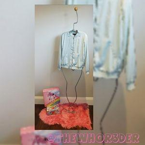 *NEW* Zara Silky Varsity Jacket👽